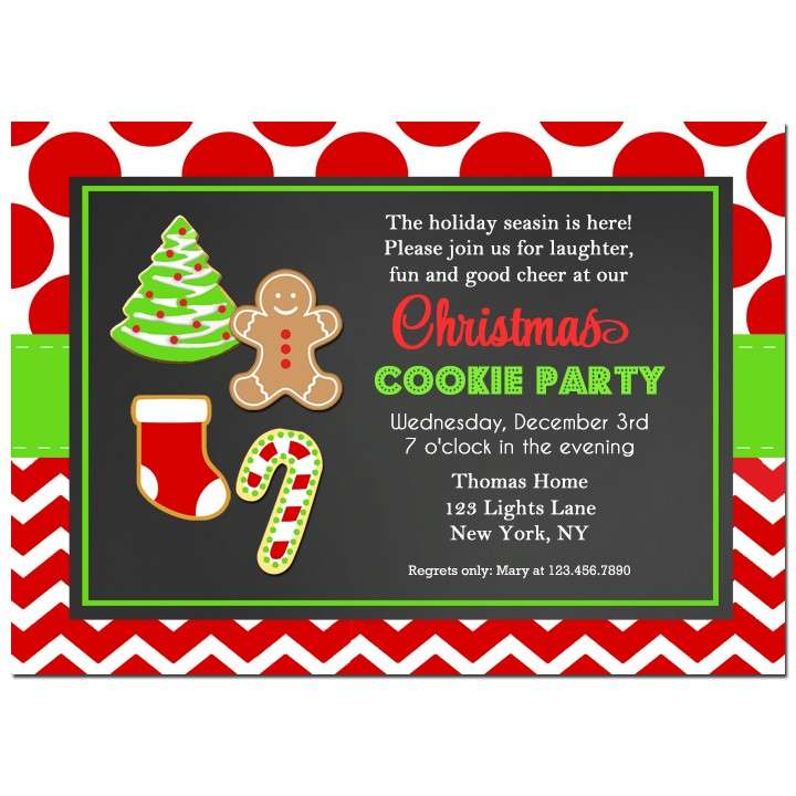 Christmas Cookie Party Invite.Christmas Cookie Party Invitation By That Party Chick