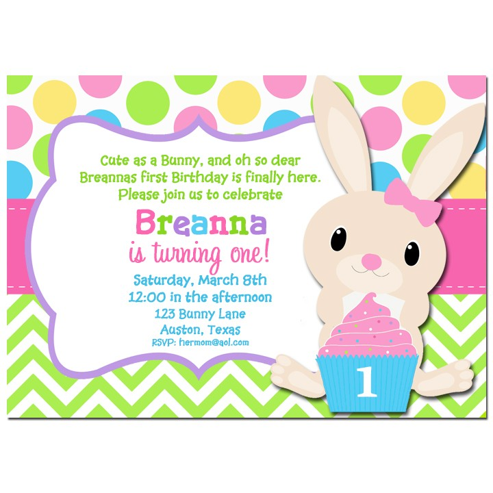 easter bunny birthday invitaiton party invitation by that party chick