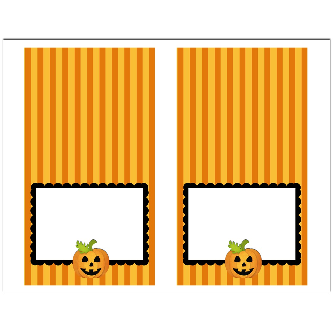 halloween jack o lantern tent style food and drink labels by that