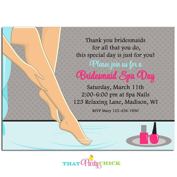 Spa Day Pedicure Invitation By That Party Chick