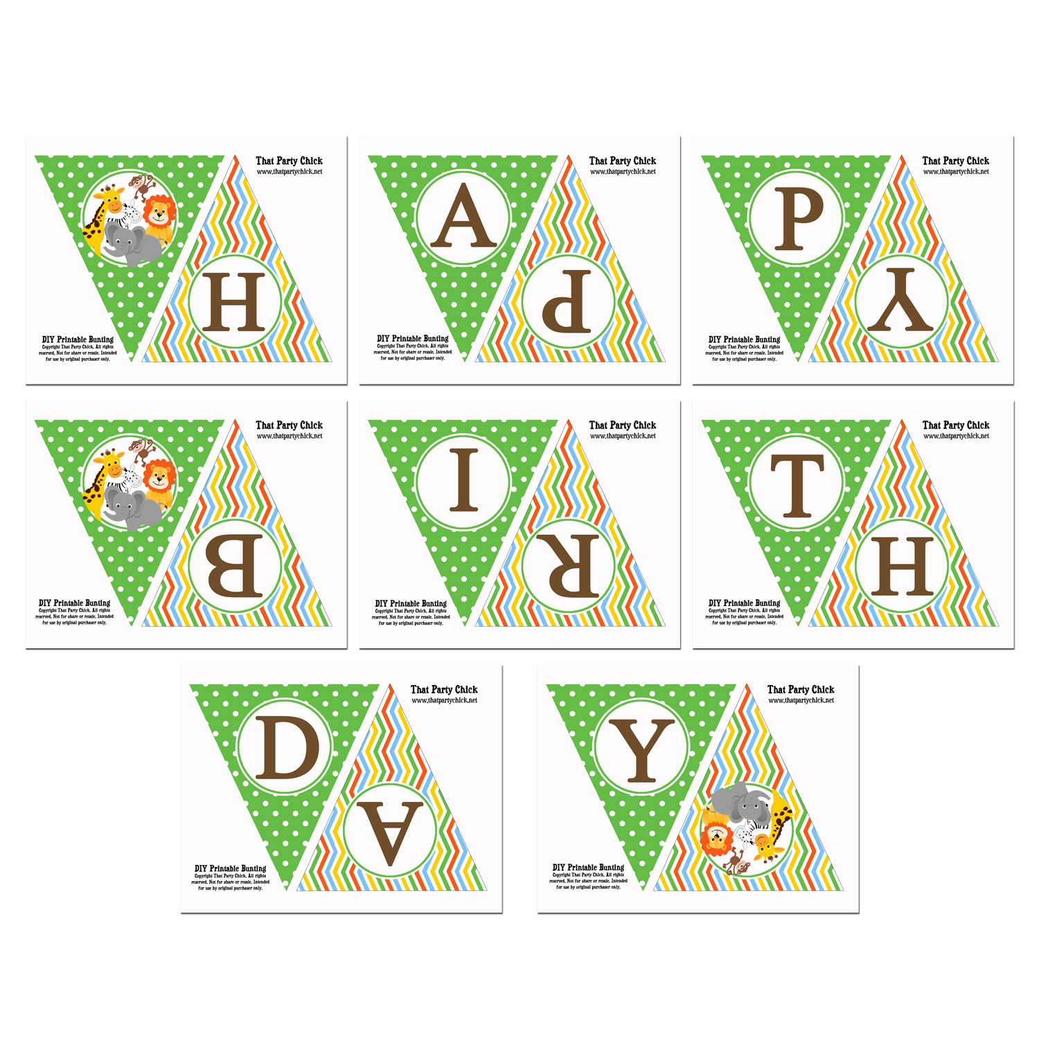 Wild Animal Zoo Safari Happy Birthday Banner By That Party