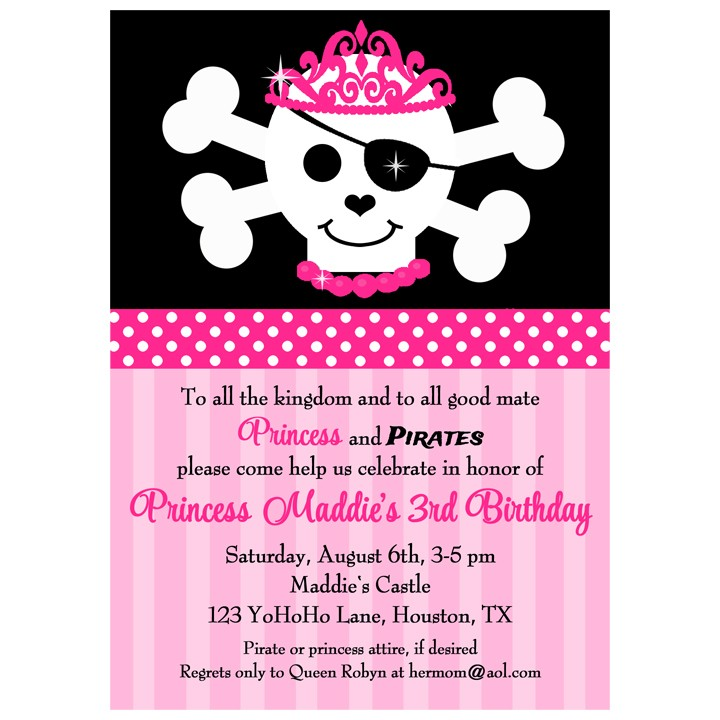 Pirate Princess Invitation By That Party Chick