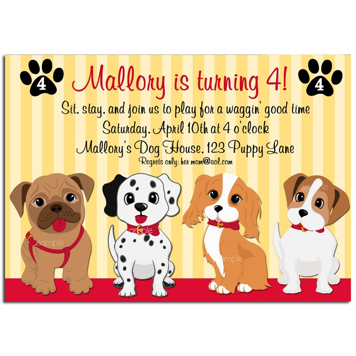 Puppy Dog Party Invitation By That Chick