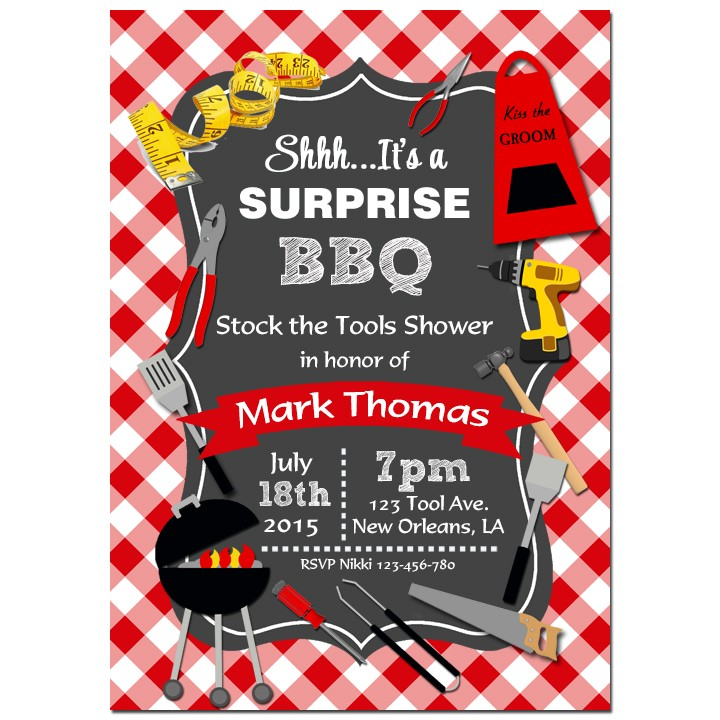 Tool Shower Barbeque Invitation By That Party Chick