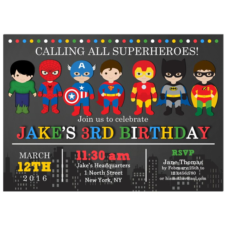 Justice League Invitations Free: Superhero Party Invitation By That Party Chick