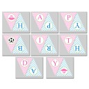"Ballerina Soccer Player Sibling ""Happy Birthday"" Banner"