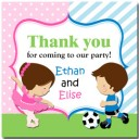 Ballerina Soccer Player Favor Tag by That Party Chick - Ballet Soccer Collection