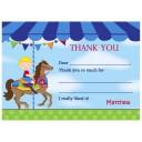Boy's Carousel Birthday Thank You Notes
