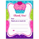 Cupcake with Sprinkles Thank You Notes