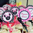 Minnie Mouse Silhouette Glam Cupcake Toppers