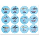Shark Party Cupcake Toppers - Shark Reef