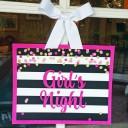 Girl's Night Party Door Sign