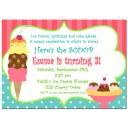 Ice Cream Sundae Invitation