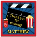 Movie Party Favor Tags - Showtime Collection