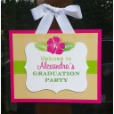 Luau Door Sign - Hibiscus Sand Collection