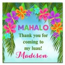 Floral Luau Favor Tags - Beach Luau