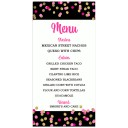 Pink and Gold Confetti Menu Cards
