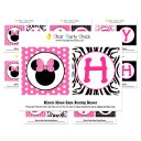 """Minnie Mouse Silhouette Glam """"Happy Birthday"""" Banner"""