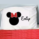 Personalized Minnie Mouse Inspired Pillow Case