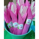 Let's Luau Pink Hibiscus Napkin Rings