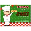 Girl's Pizza Party Invitation