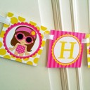 "Girl's Pool Party Personalized ""Happy Birthday"" Banner"