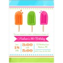 Cool Pops Party Invitation