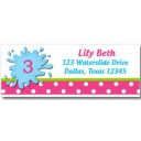 Girl's Water Slide Pool Return Address Labels