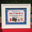 Movie Birthday Party Sign