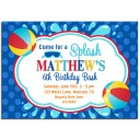 Beach Ball Pool Party Invitation - Beach Ball Collection
