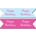 Camping Glamping Birthday Straw Flags