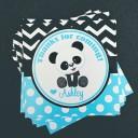 Panda Party Favor Tags - Panda Blue