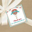 Vintage Hot Air Balloon Favor Tags