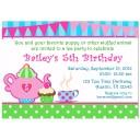 Girl's Tea Party Invitation - My Little Teapot