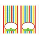 Sesame Street Inspired Tent Style Food and Drink Labels