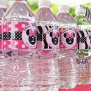Minnie Mouse Silhouette Water Bottle Labels