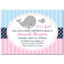 Girl Whale Invitation - The Preppy Collection