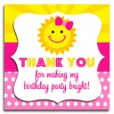 Sunshine Birthday Party  Favor Tag