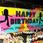 Neon Brights Dance Party Swirl Birthday