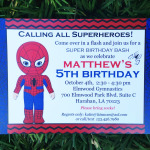 Superhero Party for Spiderman Fan